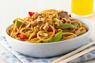 The combination of CATALINA Dressing and KRAFT Peanut Butter is the perfect pairing for this delicious noodle dish.