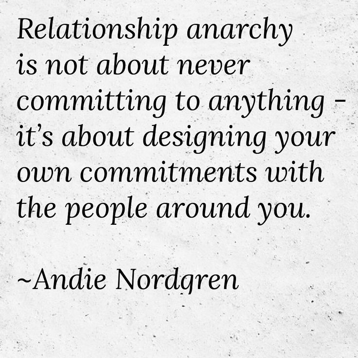 Anarchist dating advice