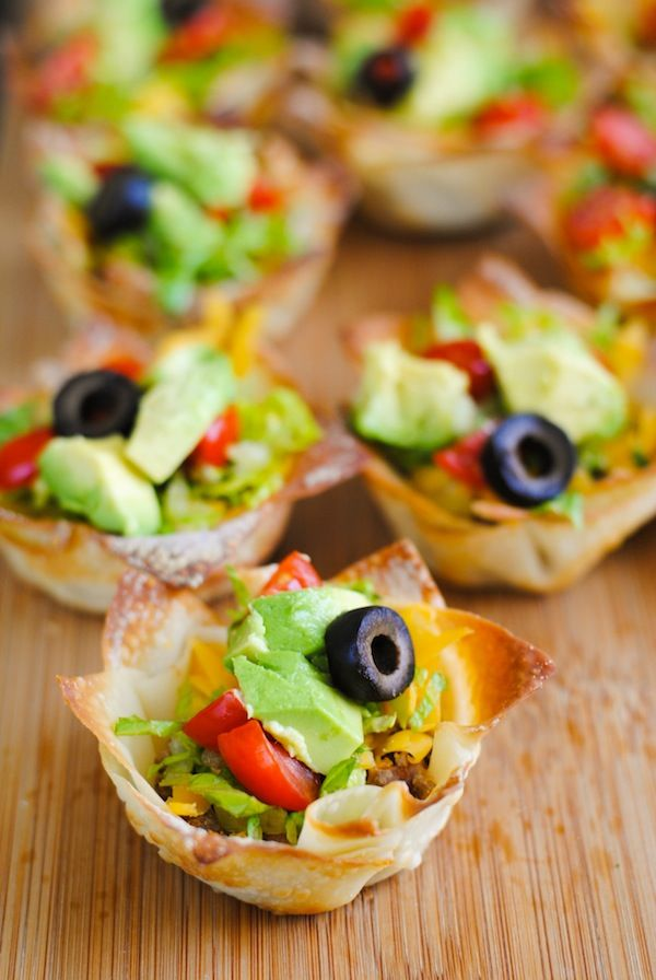 ... Cup Appetizers, Taco Salad Wonton Cups Jpg, Sangria Appetizers, Taco