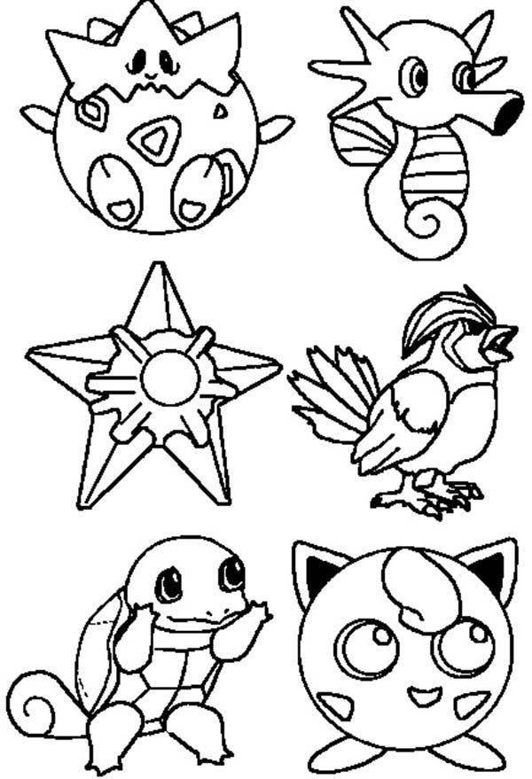 Pokemon Characters Coloring Pages : Bulk Color in 2020 ...