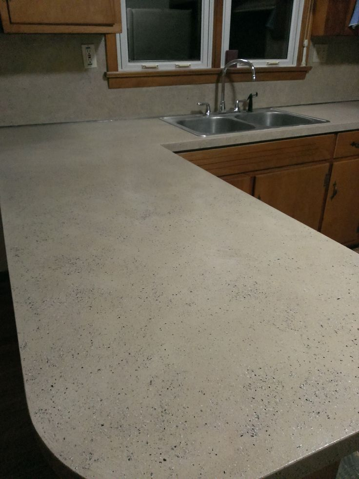 ... to paint old formica laminate countertops to looks like granite. More