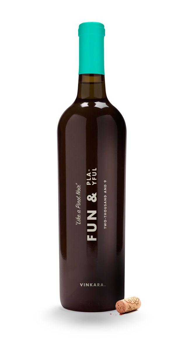 message in a bottleVinkara Fun, Alcohol Bottle, Bottle Packaging Design, Wine Packaging, Wine Labels, Fun Plays, Wine Bottle, Ned Wright, Bottle Design