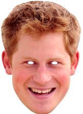 Prince Harry Face Mask. Have fun with this mask at the festivities of Queen's 90th birthday. http://www.novelties-direct.co.uk/prince-harry.html