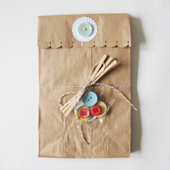 Button Lunch Gift Bags