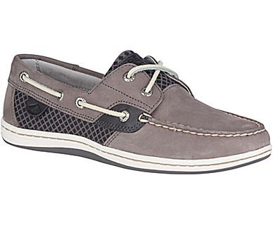 Sperry Top-Sider Women's Koifish Etched Boat Shoes Grey Sizes M