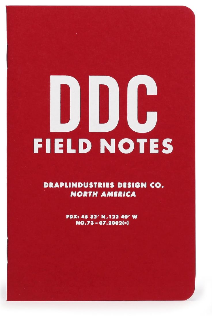 The Field Notes Tenth Anniversary Pack includes the first three versions of Field Notes memo books created by Aaron Draplin from 2002 to 2007.