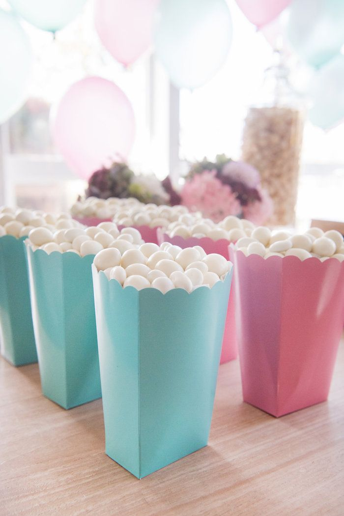 Pink Teal Favor Boxes From A Vintage First Birthday Tea Party On Karas Ideas