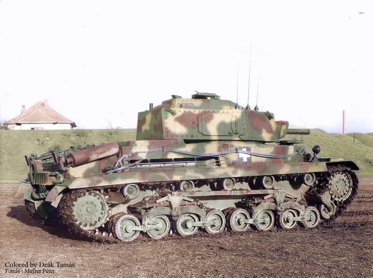 Hungarian Turan tank with radio ,commander prototipe.