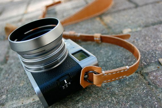 Handmade Natural Tan Camera Neck Strap Ring made by LoraynLeather, $89.00