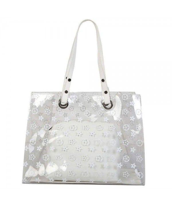 93231bb7874e Set Clear Tote Handbag- Large PVC Tote Transparent Top Handle ...