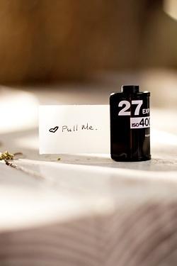 DIY film roll card