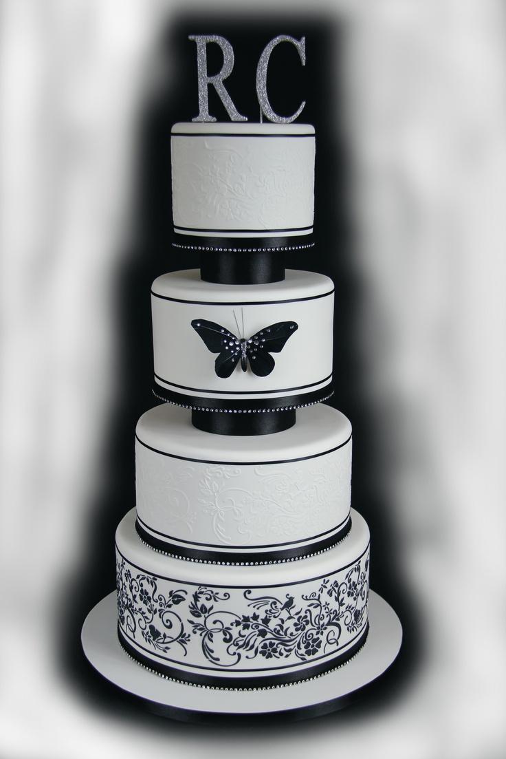 White apron perth - Black White Design Cake By Edible Elegance Perth Australia