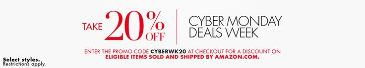 Cyber Monday Week at Amazon! Take an additional 20% off deals! - http://www.pinchingyourpennies.com/cyber-monday-week-at-amazon-take-an-additional-20-off-deals/ #Amazon, #Cyberweek