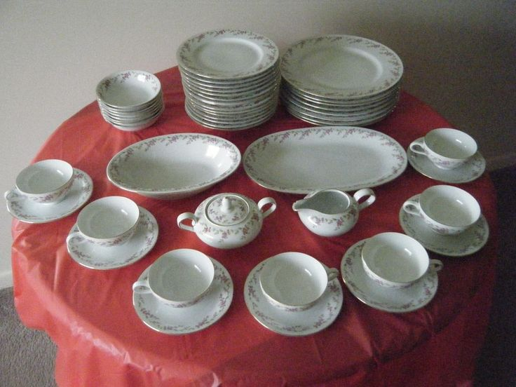 Set Of Eschenbach China Pattern P864 Made In Bavaria Germany 49 Pieces Eschenbach My
