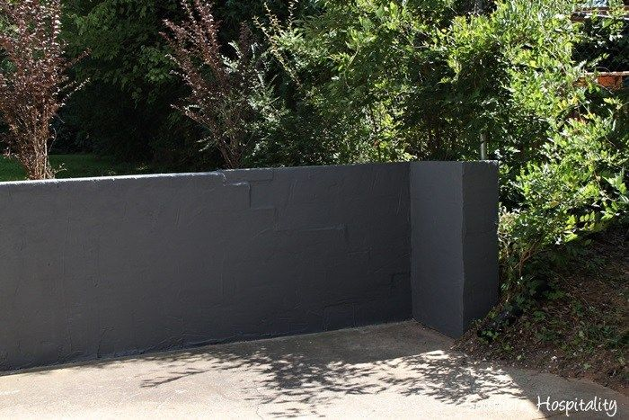 Concrete Wall Plants Repair And Paint A Block Wall Concretewall Plants Concrete Retaining Walls Painting Concrete Cinder Block Walls