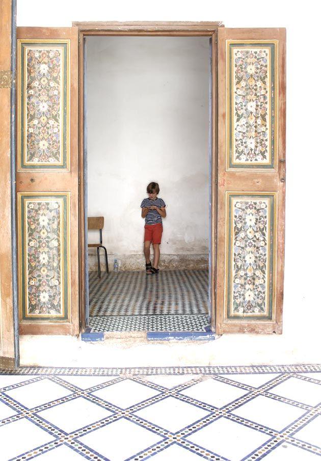 palacio bahia. Marrakech conn niños. 2ª parte
