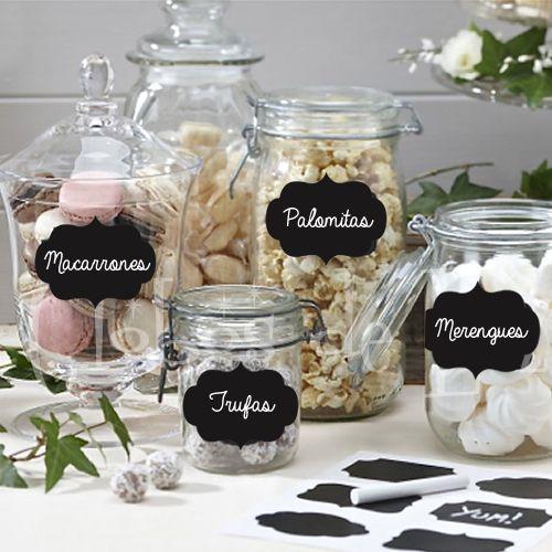 chalkboard stickers etiquetas de pizarrn para vasos y copas ideas originales para bodas y