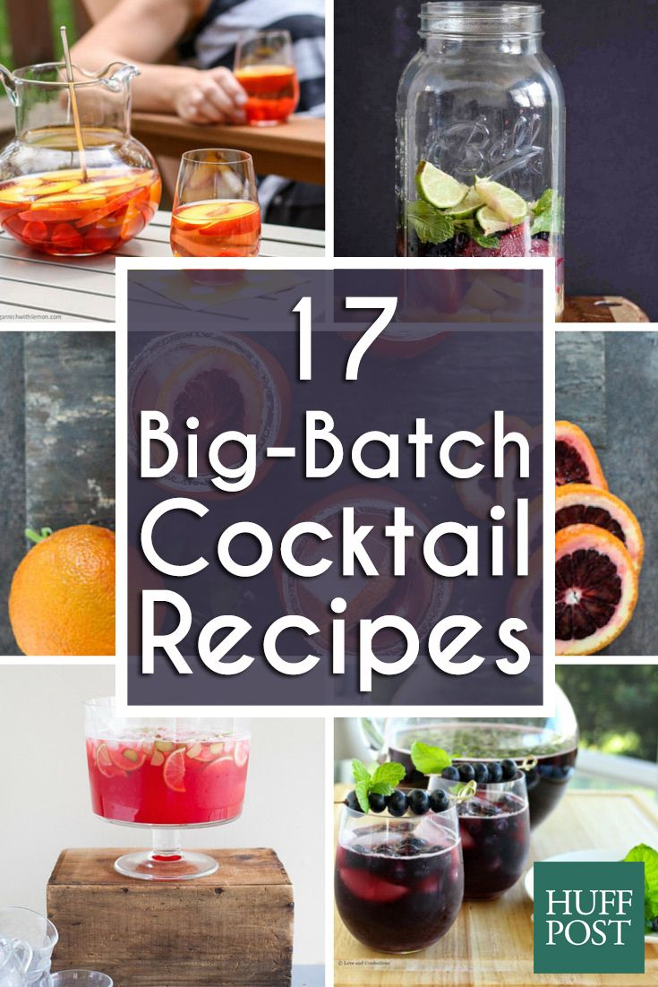 Whip up these big-batch cocktails at your next outdoor party!