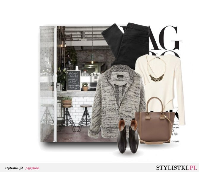 Gray jacket - Stylistki.pl