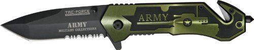 Tac Force Army Spring Assisted Opening Rescue Knife « zCamping.com