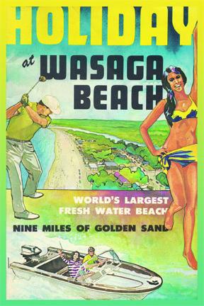 CCT0182 - Holiday in Wasaga Beach tourist booklet c1970. Wasaga Beach, Ontario, Canada