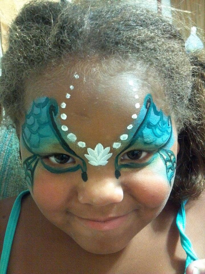 Mermaid. Not a fast face for me (yet). lol | Face Painting ...