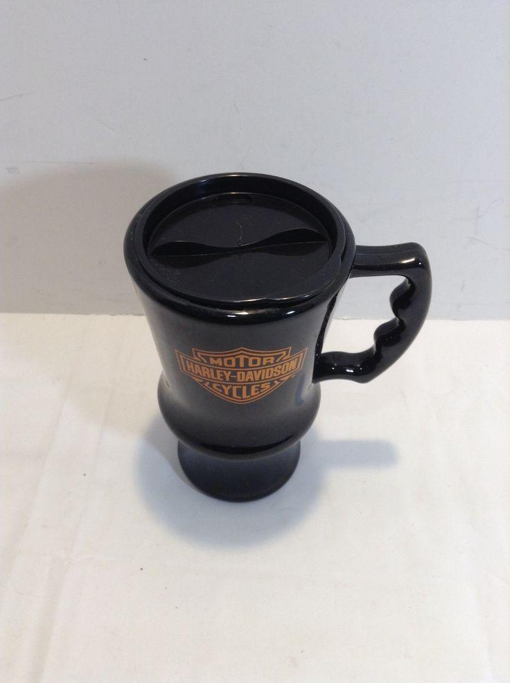 Harley Davidson Travel Mug Phillips 66 Cruisin Coffee Double Insulated 16 Oz