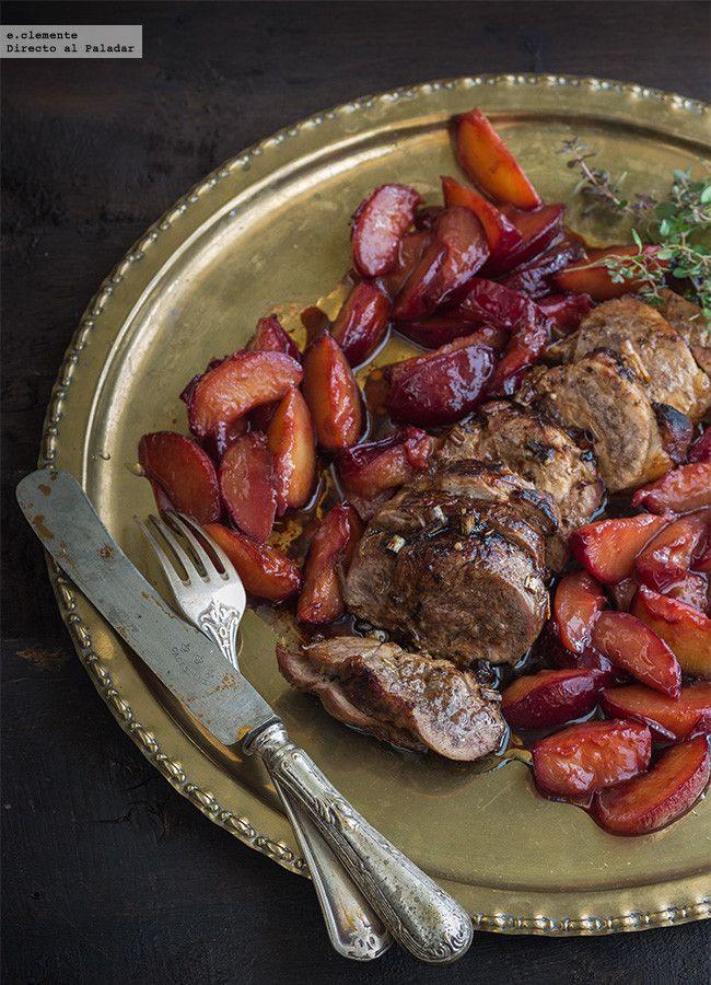 Solomillo de cerdo al horno con ciruelas claudias y citronella
