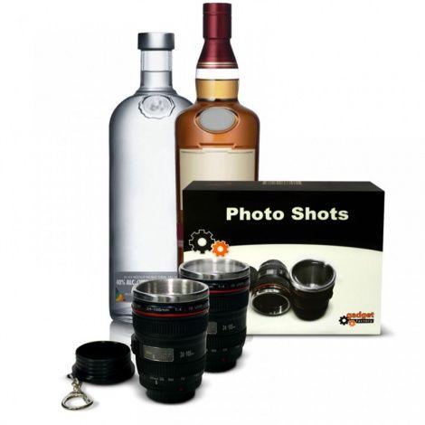 Gadget Factory Photo Shots - Kieliszek Obiektyw zestaw deluxe