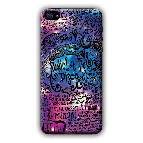 Panic AT The Disco (lyric scrawl) iPhone 5c Case (2.760 UYU) ❤ liked on Polyvore featuring accessories, tech accessories, phone cases, phones, band merch and cases