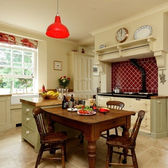 Country kitchen with Aga | kitchen design | Beautiful Kitchens | Housetohome.co.uk by DaisyCombridge