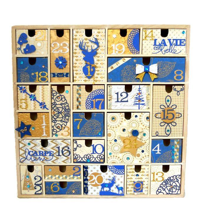 *VENDU* calendrier de l'avent en bois multi tiroirs : Accessoires de maison par ondine-de-scrap