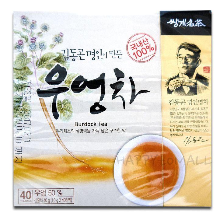Ssanggye Korean Premium Burdock Tea Herbal Health Diet Blood purifier 40Tea Bags #SsanggyeTea