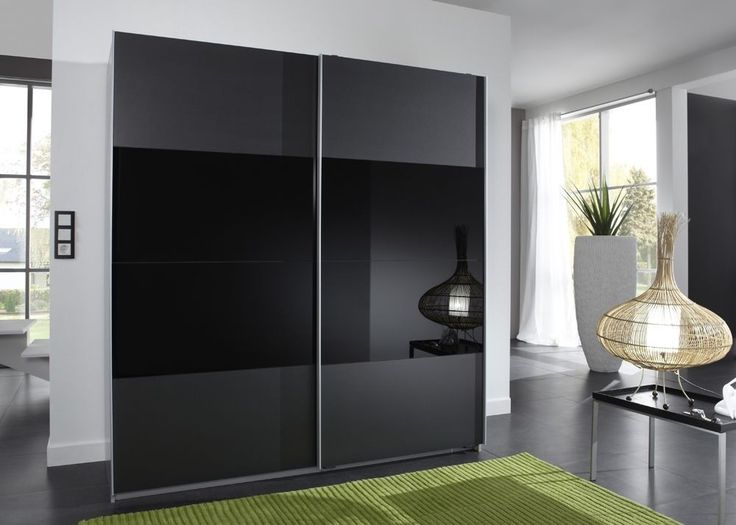 Unique Kleiderschrank cm Alu Glas Schwarz Buy now at https
