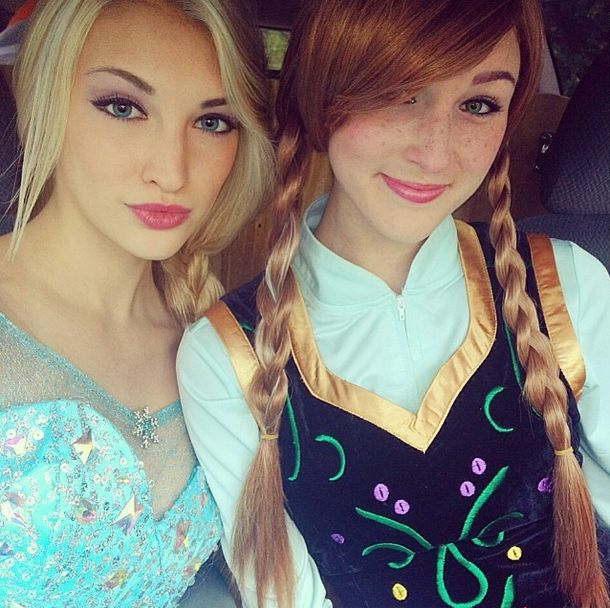 Frozen Elsa by Eighteen-year-old Anna Faith Carlson from Florida, not sure about Anna