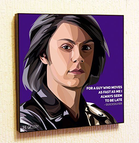 Quicksilver Marvel DC Comics Super Hero Motivational Quotes Wall Decals Pop Art Gifts Portrait Framed Famous Paintings on Acrylic Canvas Poster Prints Artwork Geek Decor Wood *** You can get more details by clicking on the image.