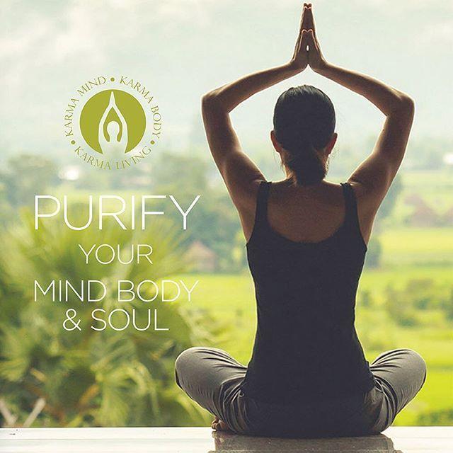 How do you purify your mind body or soul? @karma_living