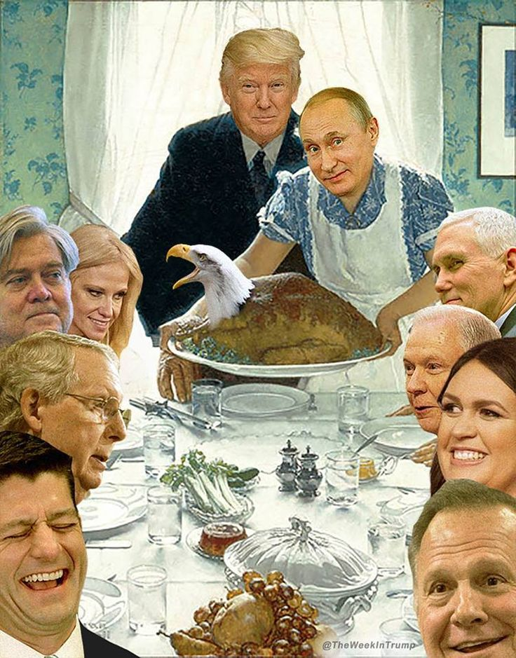 Thanksgiving at the Trump-Putin house.