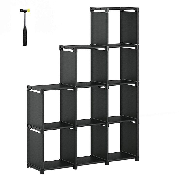SONGMICS 9-Cube DIY Storage Shelves, Open Bookshelf