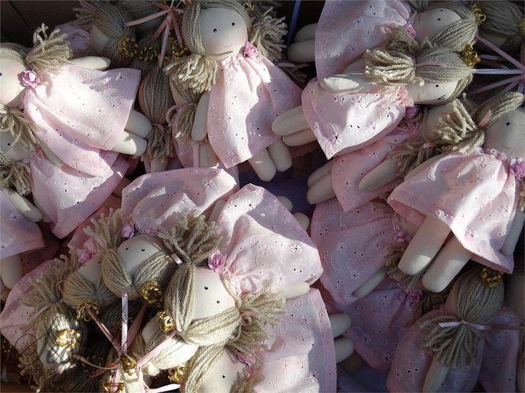 Μπομπονιέρες βάπτισης ροζ φόρεμα