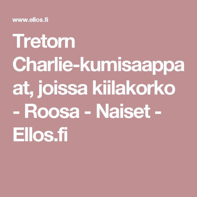 Tretorn Charlie-kumisaappaat, joissa kiilakorko - Roosa - Naiset - Ellos.fi