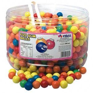 A bulk 1.6kg tub of Vidal Fizzy Gum Balls.