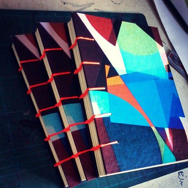 Novos cadernos cervantes #cervantes #cadernos #artesanal #sketchbook #abstrato
