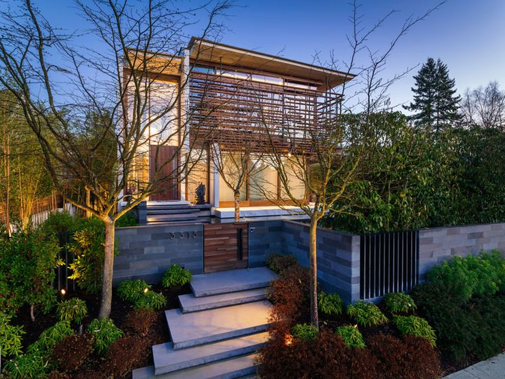 RUFproject have designed the renovation of the W38th Residence in Vancouver, Canada, that features exterior timber slats that wrap around the outside of the home.
