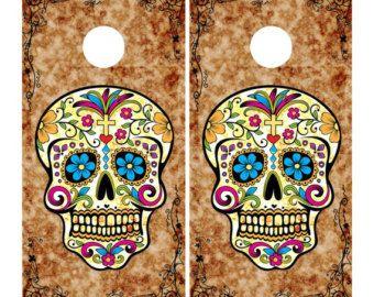 Sugar Skull Cornhole Wrap Bag Toss | Pair | SK2