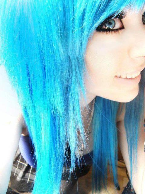 Opinion only Pretty emo scene girls with blue hair opinion you