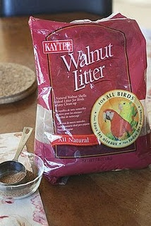Walnut Litter ~ Seems strange to use for pincushion filling but is recommended by pleasantreeus.blogspot.com Time for research!