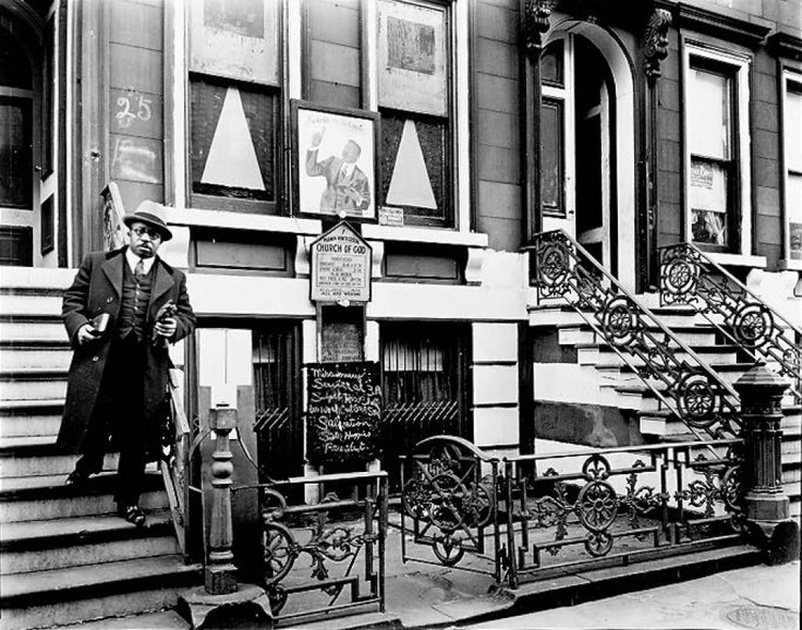 Church of God 25 East 132nd Street #NewYork 1936 #Photo