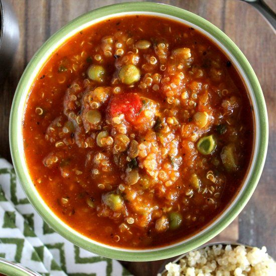 Roasted Red Pepper Quinoa Soup - A smoky, creamy and bursting with ...