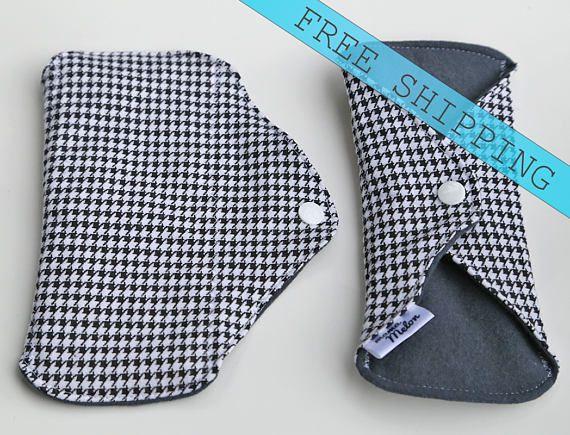 8 Charcoal Gray Cloth Panty Liner Pantyliners Mama Pad